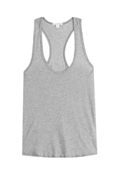James Perse Cotton Racer Back Tank Top Grey