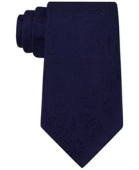 Michael Kors Men's Botanical Medallion Tie Navy