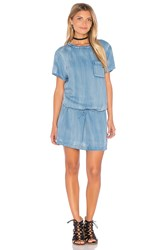 Maison Scotch Shift Dress Chambray