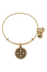 Women's Alex And Ani 'Compass' Adjustable Wire Bangle Gold