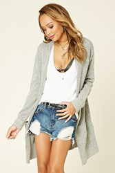 Forever 21 Longline Marled Knit Cardigan