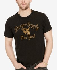 Denim And Supply Ralph Lauren Men's Graphic Print T Shirt Black