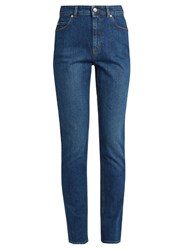Alexander Mcqueen High Waisted Skinny Jeans Denim