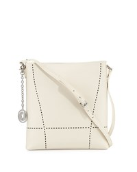 Charles Jourdan Nira Laser Cut Leather Crossbody Bag Bone Ivory