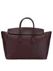 Bally Fold Over Tote Bag Red