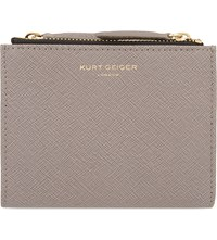 Kurt Geiger London Mini Crocodile Embossed Leather Purse Taupe
