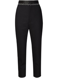Haider Ackermann Stitching Details Drop Crotch Trousers Black