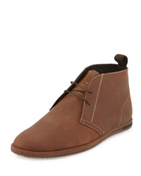 Ben Sherman Aberdeen Leather Chukka Boot Chocolate Brown