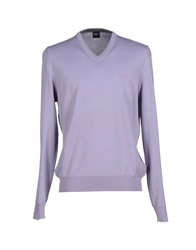 Boss Black Sweaters Lilac
