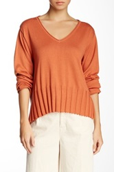 Planet Cropped Sweater Orange
