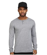 Brixton Redford Long Sleeve Henley Heather Grey Men's Short Sleeve Pullover Gray