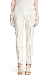 St. John Women's Collection 'Emma' Metallic Jacquard Crop Pants