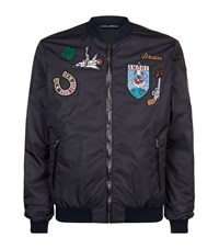 Dolce And Gabbana Vintage Patch Bomber Jacket Male Black