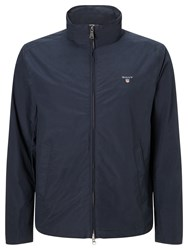 Gant Mid Length Jacket With Foldaway Hood Navy