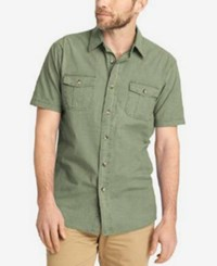 G.H. Bass And Co. Men's Short Sleeve Shirt Olivine