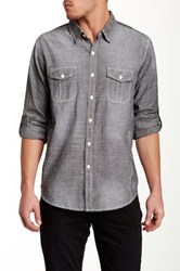 7 For All Mankind Chambray Slim Fit Shirt Black