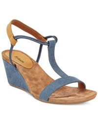 Styleandco. Style Co. Mulan Wedge Sandals Only At Macy's Women's Shoes Denim