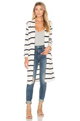Splendid Tucson Striped Loose Knit Cardigan Cream