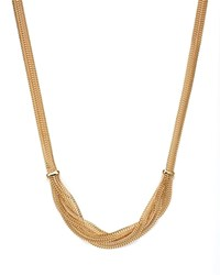 Bloomingdale's 14K Yellow Gold Braided Mesh Necklace 17
