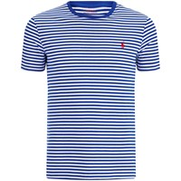 Polo Ralph Lauren Men's Crew Neck Stripe T Shirt Bright Royal