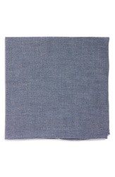 The Tie Bar Chambray Cotton Pocket Square Warm Blue