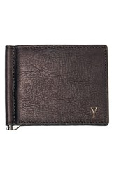 Men's Cathy's Concepts Personalized Leather Wallet And Money Clip Metallic Brown Y