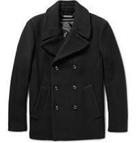 Marc By Marc Jacobs Double Breasted Wool Blend Peacoat Black