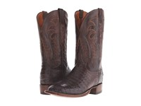 Lucchese Cl8072.Wf Stonewashed Chocolate Caiman Belly Chocolate Mad Goat Cowboy Boots Brown