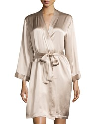 Vivis Gloria Short Silk Robe Beige Women's