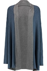 Majestic Draped Cotton And Cashmere Blend Cardigan Blue