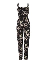Therapy Ori Floral Jumpsuit Black