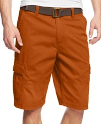 American Rag Men's Belted Relaxed Cargo Shorts Brown Quartz