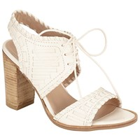 John Lewis Collection Weekend By Issigeac Block Heeled Sandals Cream
