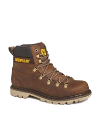 Cat Highgate Leather Hiking Boots Brown