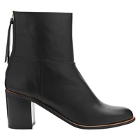 Whistles Grace Zip Back Leather Calf Boots