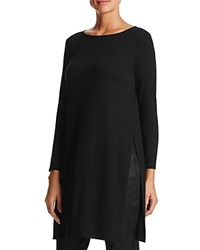 Eileen Fisher Petites Boat Neck Tunic Black