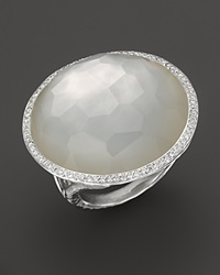 Ippolita Sterling Silver Stella Ring In Mother Of Pearl Doublet With Diamonds