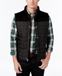 Club Room Men's Quilted Vest Only At Macy's Deep Black