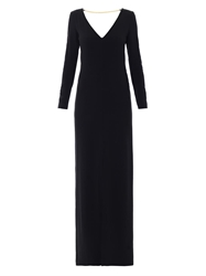 Adam By Adam Lippes Chain Embellished Crepe Gown