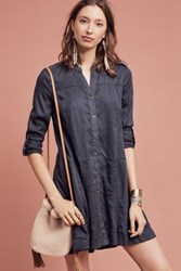 Anthropologie Mariona Shirtdress Navy
