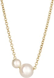 Grace Lee Women's Twin Pearl Necklace Colorless