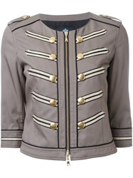 Guild Prime Cropped Military Jacket Green