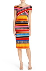 Eci Women's 'Leno' Stripe Midi Dress Multi