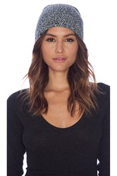 Plush Marled Slouchy Beanie Black And White
