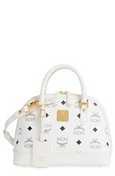 Mcm 'Mini Heritage' Coated Canvas Bowler Bag