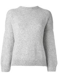 Masscob Ribbed Round Neck Jumper Grey
