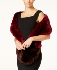 Inc International Concepts Colorblocked Faux Fur Scarf Only At Macy's Wine