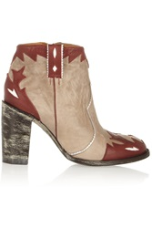 Mexicana Kat Distressed Leather Ankle Boots Brown