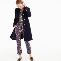 J.Crew Lady Day Coat With Gold Buttons