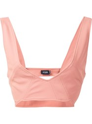 Atlein V Neck Bralette Pink And Purple